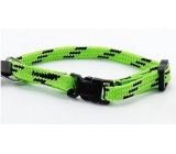 Nylon green-black collar 1.0 x 18 - 2 8cm