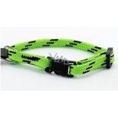 B&F Nylon collar green-black 1,0 x 18 - 2 8 cm