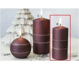 Lima Sparkling candle crimson roller 60 x 120 mm