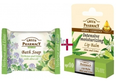 Green Pharmacy 3-pack Aloe & Limete (2x Lip Balm & Soap VERBENA) - Hydration 9009