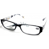 Glasses diop.plast. + 2 black sides with rectangles MC2084