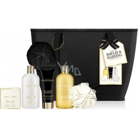 Baylis & Harding Sweet Tangerine and Grapefruit bath milk 300 ml + washing gel 300 ml + toilet soap 150 g + body lotion 130 ml + washcloth + handbag, cosmetic set