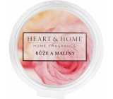Heart & Home Roses and raspberries Soy natural fragrant wax 26 g