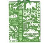 Nekupto Gift paper bag 18 x 23 x 10 cm green 1883 50 KFM