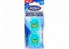 Beauty Formulas Dental floss green 2 x 12 meters, travel package