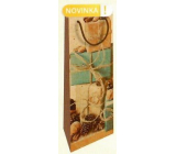 Nekupto Gift kraft bottle bag 15 x 40 cm Gifts with pine cones Christmas WHLH