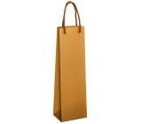 Ditipo Gift paper bottle bag 12 x 9 x 39 cm ECO natural brown