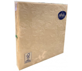Aha Paper napkins 3 ply 33 x 33 cm 15 pieces Embossed champagne