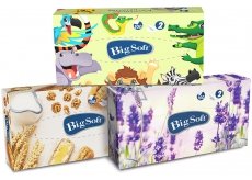 Big Soft Deluxe cosmetic paper napkins 2 ply in a box of 100 pieces