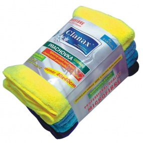 Clanax Coral duster microfiber 40 x 40 cm different colors 300 g 1 piece