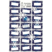 Arch Christmas gift stickers blue snowflakes 20 labels 1 arch