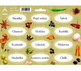 Arch Spice stickers Jute color print Basil - pure kinds of spices