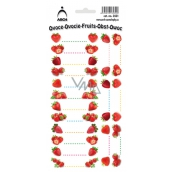 Arch Stickers for canning Strawberries 18 labels
