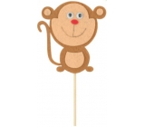 Monkeys from felt groove 8 cm + skewers