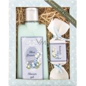 Bohemia Gifts & Cosmetics Blue Flower sprchový gel 200 ml + ručně vyráběné mýdlo 30 g, kosmetická sada