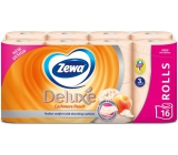 Zewa Deluxe Aqua Tube Cashmere Peach Perfumed Toilet Paper 3 ply 150 pieces 16 pieces, roll that can be washed away