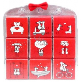 Nekupto Chocolate puzzle From love mouse 9 x 5 g, 11 x 11.5 x 0.7 cm