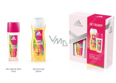 Adidas Get Ready! deodorant glass 75 ml + shower gel 150 ml for women cosmetic set