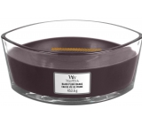 WoodWick Black Plum Cognac - Black Plum Cognac Scented Candle with Wooden Wick and Lid 453 g