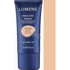 Lumene Double Stay mineral makeup 04 Peach Beige 30 ml