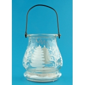 Lucerna glass candle 9.5 cm