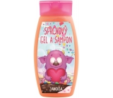 Bohemia Gifts & Cosmetics Monsters Strawberry 2in1 shower gel and shampoo for children 250 ml