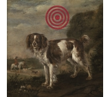 Bohemia Gifts & Cosmetics Decorative painting for hanging Target dog 30 x 30 cm