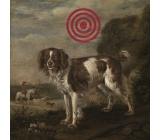 Bohemia Gifts & Cosmetics Terč pes dekorační obraz 30 x 30 cm