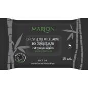 Marion Detox Black Moisturizing Napkins 15pcs 3525