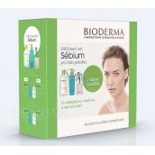 Bioderma Sebium H2Oflore water 500 ml + Mousant cleansing foam gel 200 ml + tampons, cosmetic set