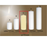 Lima Gastro smooth candle ivory cylinder 70 x 200 mm 1 piece