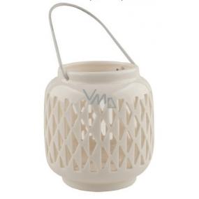 Porcelain lantern white 9,4 cm