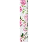 Nekupto Gift wrapping paper 70 x 150 cm white pink flowers 930 30