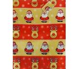 Nekupto Gift paper bag large 32 x 26 x 13 cm Christmas, hologram 035 30 GL
