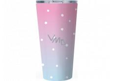Albi Design stainless steel mug Polka dots 400 ml