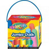 Colorino Jumbo Chalk sidewalk chalk box with handle 8 colors 15 pieces