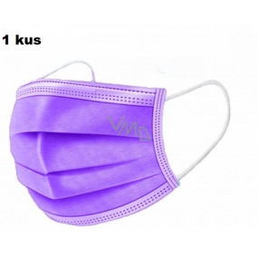 Shield Veil 3 layer protective medical non-woven disposable, low breathing resistance 1 piece purple