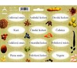 Arch Samolepky na kořenky Juta barvotisk Grilovací koření - směsi koření (běžné) 0513