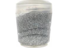 Ocean Glitter Gel glitter for body and hair in a silver gel 10 g