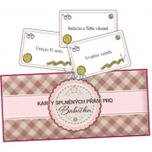 Bohemia Gifts & Cosmetics Fulfilled wish cards for grandmother 20 pieces of cards