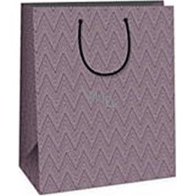 Ditipo Gift paper bag 26.4 x 13.6 x 32.7 cm purple geometric pattern