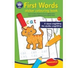 Ditipo Creative coloring book with stickers First words English 24 pages