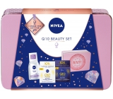 Nivea Q10 Beauty Q10 Power Firming Day Cream For Women 50 ml + Q10 Power Firming Night Cream 50 ml + 100 ml micellar water + tin box, cosmetic set