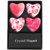 Albi Crystal magnets Pink heart 4 pieces