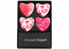 Albi Crystal Magnets Circles Pink Hearts 4 Pieces