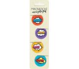 Albi Magnetic mini bookmarks Comics diameter 3 cm 4 pieces