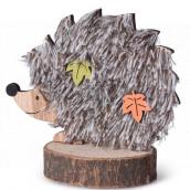 Emocio Decoration Hedgehog wooden natural, brown 130 x 110 mm