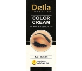 Delia Color Cream Coloring eyebrow cream with argan oil 1.0 Black 15 ml + 15 ml