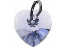 Swarovski Elements pendant heart light purple 10 mm 1 piece
