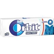 Wrigleys Orbit Sweet Mint žvýkačky bez cukru dražé 10 kusů 14 g